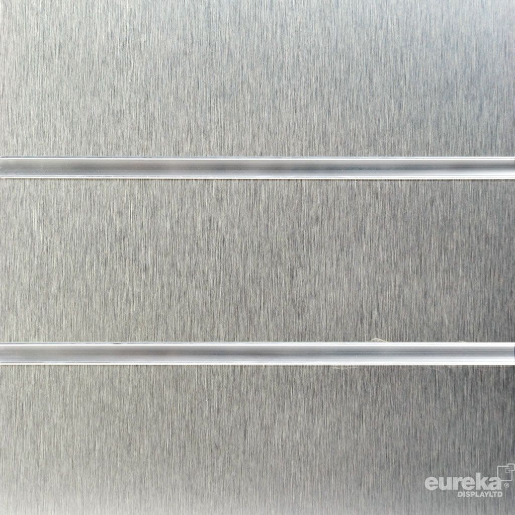 Brushed Aluminium Slatwall Panel