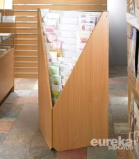 15 Tier MDF Corner Card Display Unit for shops