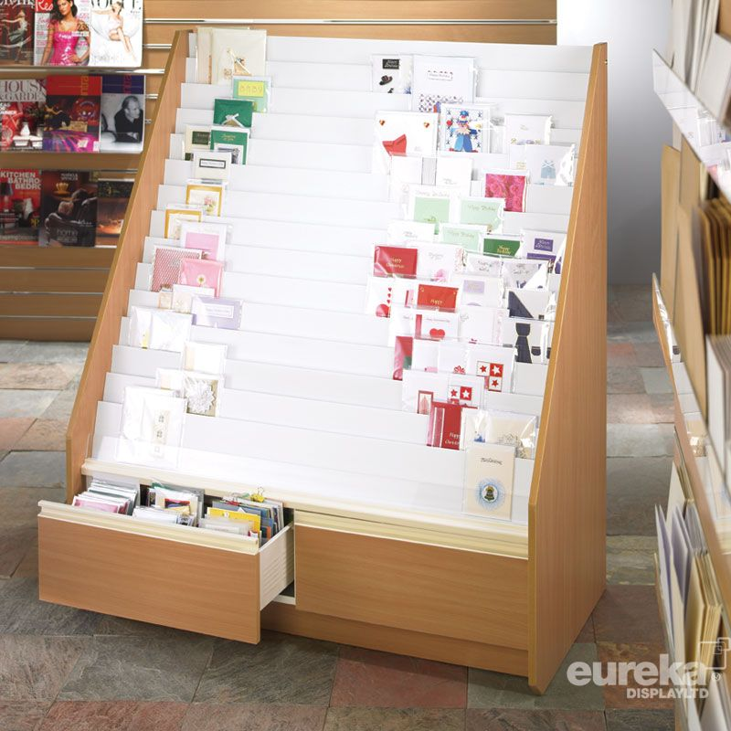 15 Tier MDF Card Display Unit with drawers