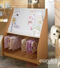 15 TIER CARD DISPLAY UNIT WITH GIFT WRAP HOLDER